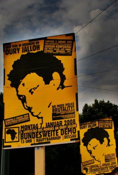 Plakat Oury Jalloh
